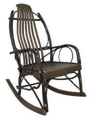 Amish Bentwood Rocker - Hickory & Barn Wood