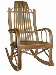 Amish Bentwood Rocker - Solid Maple