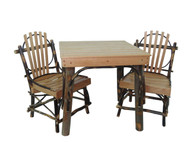 Kid's Amish Bentwood Hickory & Oak Table 3 Piece Set with 2 Chairs