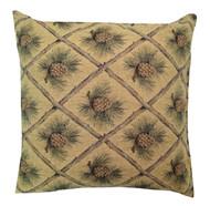 Premium Throw Pillow - Gold Pinecone