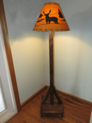 Amish Barnwood Floor Lamp with Shade