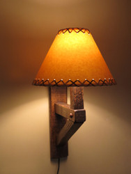 Barnwood Wall Sconce Lamp with Shade