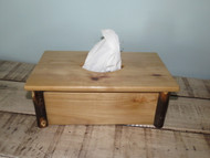 Rustic Hickory Long Tissue Box Cover