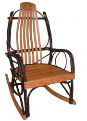 Amish Bentwood Rocker - Hickory & Oak