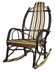 Amish Bentwood Rocker - Hickory, Walnut & Maple