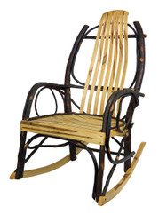 Amish Bentwood Rocker - Hickory & Wormy Maple