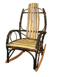Amish Bentwood Rocker - All Hickory
