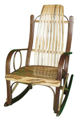 Amish Bentwood Rocker - Solid Walnut & Wormy Maple
