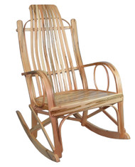 Amish Bentwood Rocker - Solid Wormy Maple