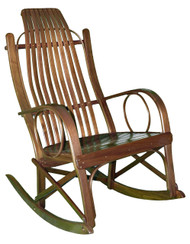 Amish Bentwood Rocker - Solid Walnut