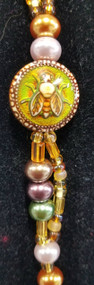 Honey Bee Beaded Keychain, Thermo-Sensative