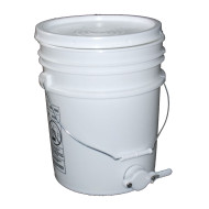 "Plastic Bottling Pail w/ 1-1/2"" Honey Gate (Lid w/ Gasket Included)"