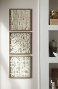 Odella Cream/Taupe Wall Decor Set (3/CN)