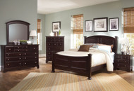 Hamilton Double Bed: Merlot