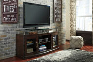 Chanceen - Dark Brown - Medium TV Stand/Fireplace OPT