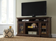 Roddinton - Dark Brown - XL TV Stand w/Fireplace Option