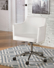 Baraga - White - Home Office Swivel Desk Chair