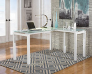 Baraga - White - L-Desk