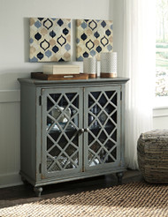 Mirimyn - Antique Gray - Door Accent Cabinet