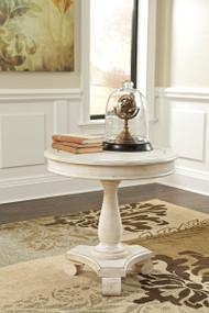 Mirimyn - White - Round Accent Table