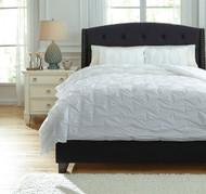 Rimy - White - Queen Comforter Set
