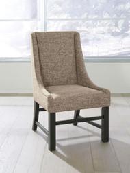 Sommerford Black/Brown Dining Upholstered Arm Chair