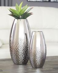 Dinesh Silver Finish Vase Set (2/CN)