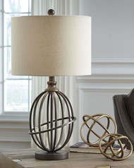 Manasa Bronze Finish Metal Table Lamp (1/CN)
