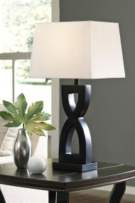 Amasai Black Poly Table Lamp (2/CN)