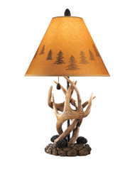 Derek - Brown - Poly Table Lamp (2/CN)