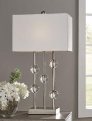 Jaala Clear/Silver Finish Metal Lamp (1/CN)