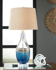Johanna Blue/Clear Glass Table Lamp (2/CN)