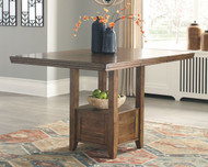 Flaybern Brown Rectangular Counter EXT Table