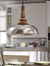 Joziah - Antique Silver Finish - Metal Pendant Light (1/CN)