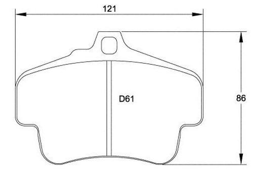 Race Technologies RS45 Brake Pad - 2282.17.RS45