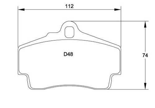 Race Technologies RS45 Brake Pad - 2421.15.5.RS45