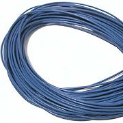 Leather, European (Greek), Round Cord, 1.5mm, Blue (medium), 5-meters, (5-meters length)