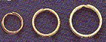 Nickel-Plate, 10mm Split Ring, (10mm outer diameter, 8mm inner diameter), (36 pc)