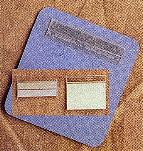 """Self-adhering, Plastic Hanging Card Adapters, 1"""" width x 1/2"""" height, (pkg of 100 pieces)"""