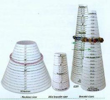 Sizing Cone, Necklace, EZ NECKLACE SIZER (in inches), (1 sizing cone)