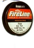 "FireLine Braided Bead Cord, .005"" diameter, Extra Fine Size B, (4 pound test), 50 yards, Crystal (really translucent white), (1 50 yd spool)"