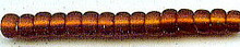 Japanese Miyuki Seed Beads, size 6/0, 0005F, dark topaz matte silver lined, (1 tube)