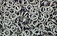 Nickel Plate Jump Ring, Round, 5mm exterior diameter, 21 gauge, (20 pieces)