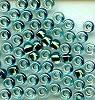 """Japanese Miyuki Seed Beads, size 8/0, 0754, """"magic (dichroic)"""", sage ocean, (1 tube)"""