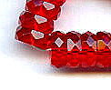 10x4mm Fire Polish Rondelle Bead (aka, Bolt), Czech Glass, ruby, (50 beads)
