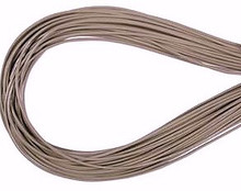 Leather, European (Greek), Round Cord, 1.5mm, Grey, 50-meter skein, (1 skein)