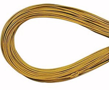 Leather, European (Greek), Round Cord, 1.5mm, Yellow, 50-meter skein, (1 skein)