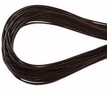 Leather, European (Greek), Round Cord, 1.5mm, Dark Brown, 50-meter skein, (1 skein)
