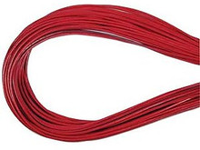 Leather, European (Greek), Round Cord, 1.5mm, Dark Rose, 5-meters, (5-meters length)