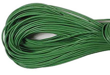 Leather, European (Greek), Round Cord, 1.5mm, Grass Green, 5-meters, (5-meters length)